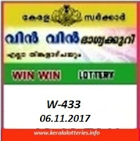 Kerala Lottery Results of Win Win  W-433 on 06.11.2017