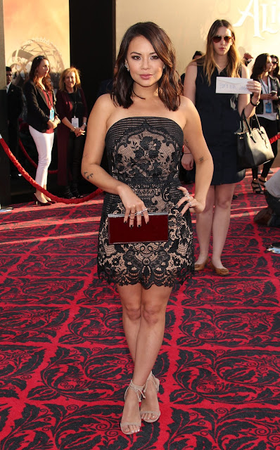 Actress, Singer, @ Janel Parrish - 'Alice Through The Looking Glass' Premiere in Hollywood