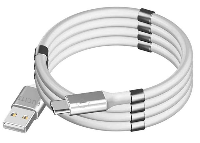 Fucite SuperCoil Mag USB-A to USB-C Cable