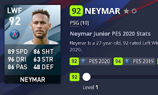 berbagai cara mendapatkan neymar jr di pes mobile android