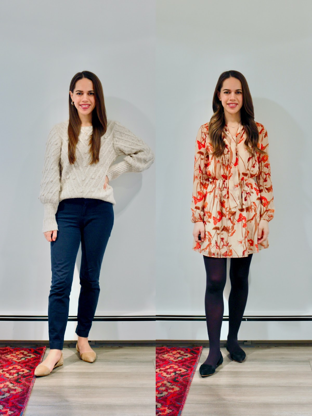 Jules in Flats - January Outfits Week Four (Business Casual Winter Workwear on a Budget)