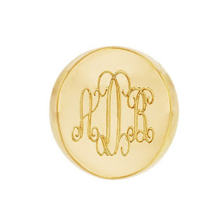 mens monogram signet ring