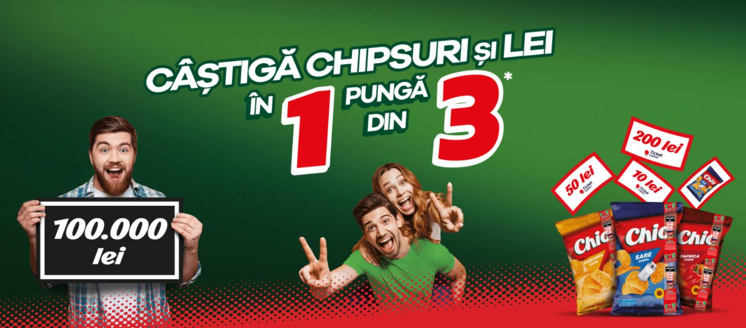 Concurs Chio Chips 1din3 - Castiga 100.000 de lei in punga Chio cu bentita promotionala - castiga.net - 2021