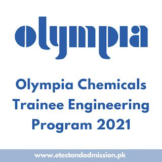 Olympia Chemicals Trainee Engineering Program 2021