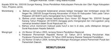 Langkah Langkah Pengangkatan Honorer K2 Beserta SK Sudah Disetujui Tahun 2016/2017