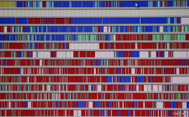 Ecran de défragmentation de disque sous Windows 2000