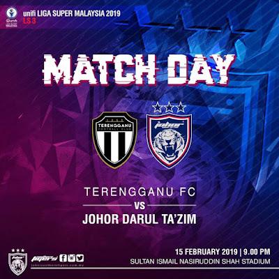 Live Streaming Terengganu Vs JDT Liga Super 15.2.2019