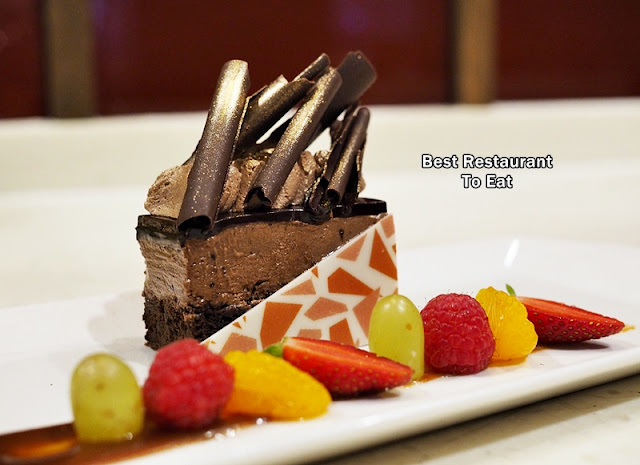 Dessert Chocolate Mud Cake - Vegetarian Fine Dining Dishes