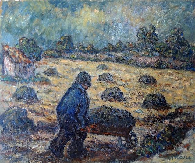 Marc Camps Gandillo pintura impresionista campesino