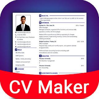 CV Maker aplikasi pembuat CV