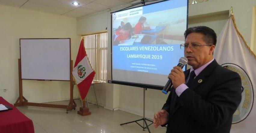 Más de 170 escolares venezolanos estudian en colegios de Lambayeque, informó la GREL