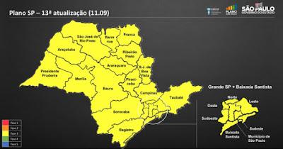 Com todas as regiões na fase amarela, Plano SP passa a ter atualização mensal