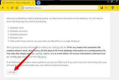 Cara Install Wordpress di Localhost, Dilengkapi Gambar!