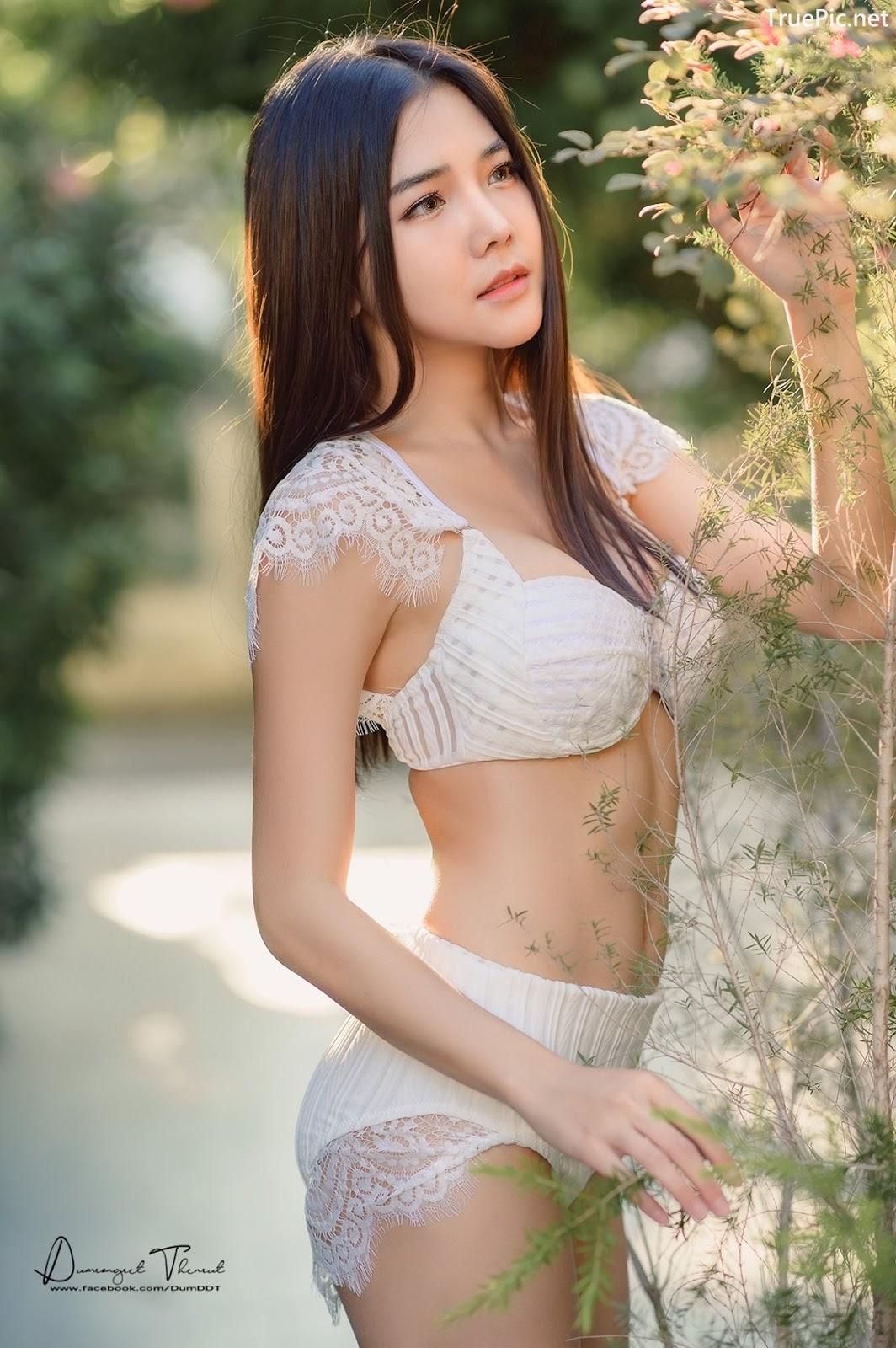 Image Thailand Model - Phitchamol Srijantanet - White Crochet Bikini - TruePic.net - Picture-4