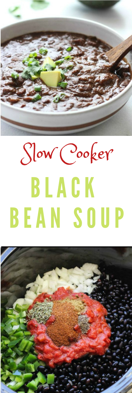 VEGAN SLOW COOKER BLACK BEAN SOUP #diet #vegan
