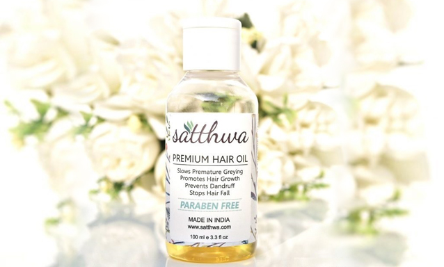 Buy Satthwa Premium Hair Oil to control hair fall, graying, dandruff.