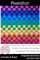 Pixelation Quilt Pattern by Myra Barnes of Busy Hands Quilts