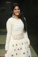 Megha Akash in beautiful White Anarkali Dress at Pre release function of Movie LIE ~ Celebrities Galleries 044.JPG