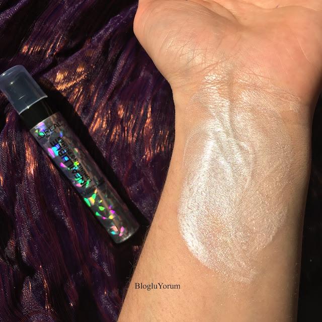 loreal infaillible luminizing primer ışıltılı makyaj bazı incelemesi swatch 1