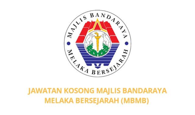 Jawatan Kosong Majlis Bandaraya Melaka Bersejarah 2021 (MBMB)
