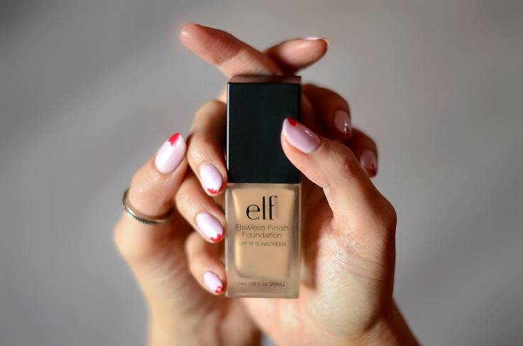 E.L.F. Flawless Finish Foundation, Hearts on nails