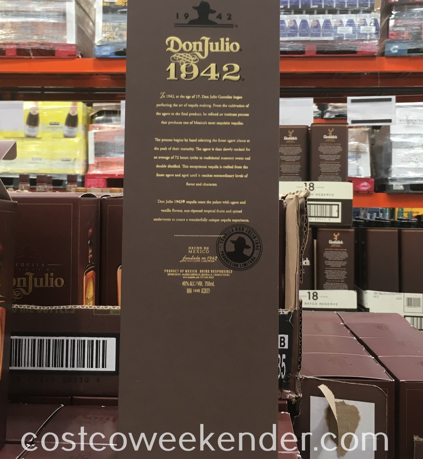 Don Julio 1942 Tequila - great for sipping