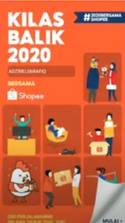 Cara Melihat Kilas Balik Shopee 2020 Mudah