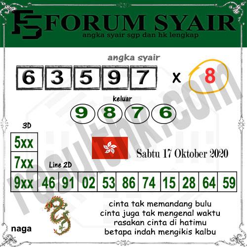 Forum syair hk Sabtu 17 Oktober 2020
