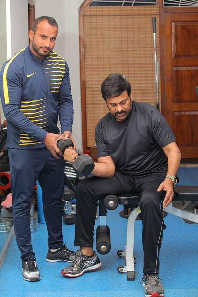 Fast Updates - Telugu Celebs -  Chiru hits the Gym