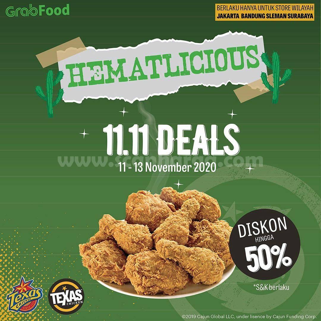 Promo Texas Chicken Flash Sale: Diskon 50% via Grabfood