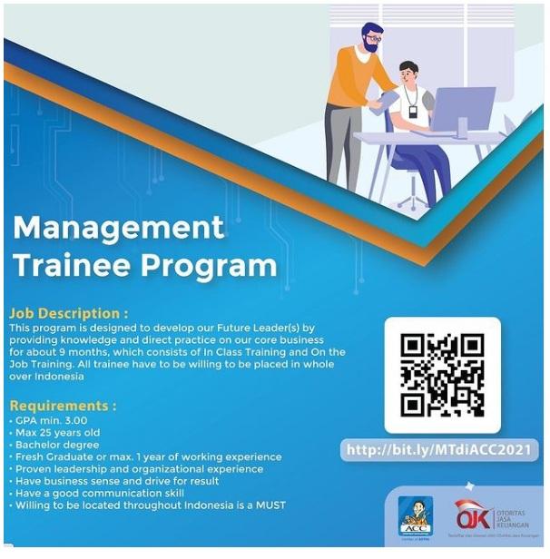 Lowongan Management Trainee Program Batch Astra Credit Companies Februari 2021