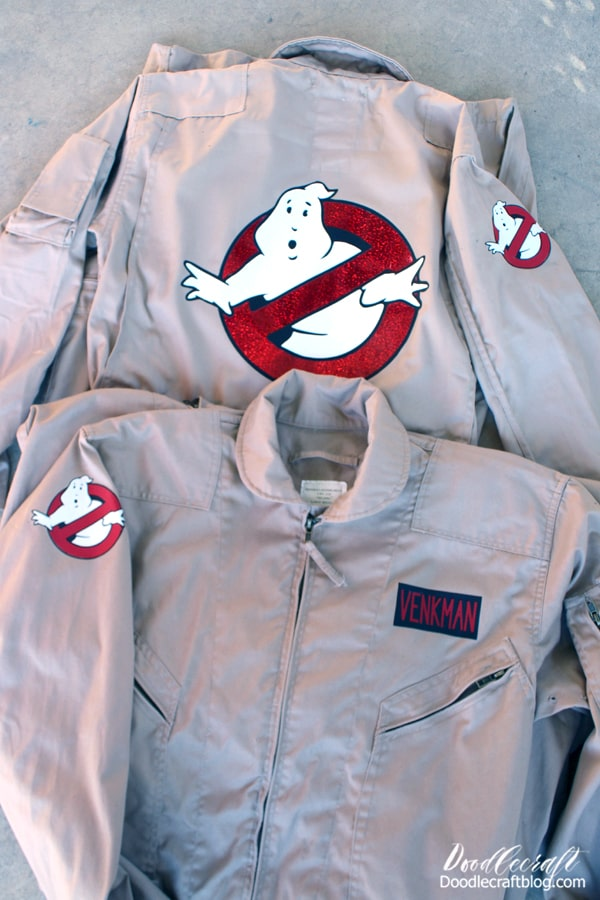 How to make a last minute Ghostbusters Halloween costume or cosplay using the Cricut Maker and Iron-on vinyl.