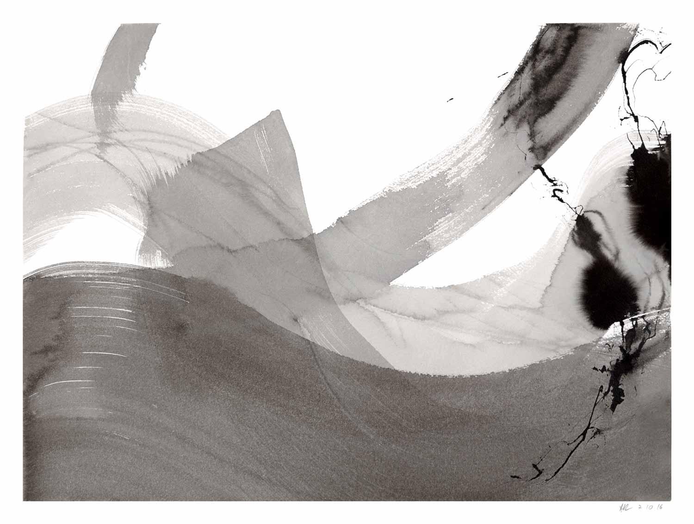 Annik Reymond - encre de chine et lavis sur papier Arches