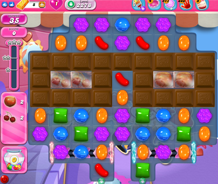 Candy Crush Saga level 2278
