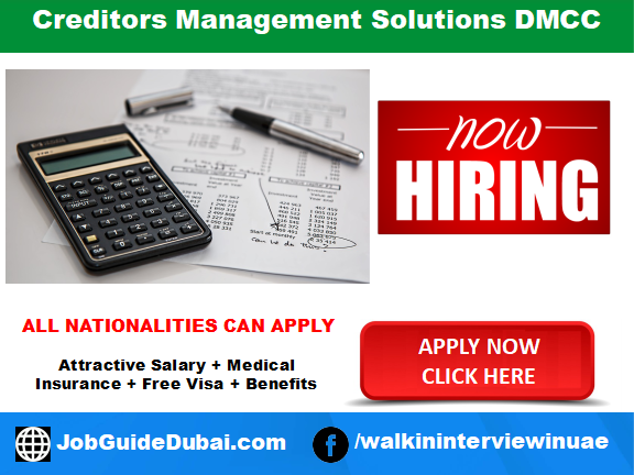 Creditors Management Solutions DMCC carrier for Recovery Officer job in Dubai UAE