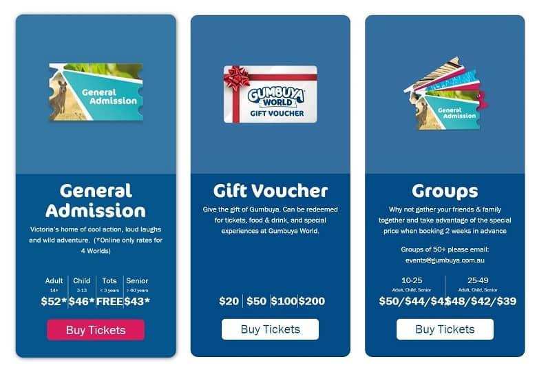 Gumbuya World tickets