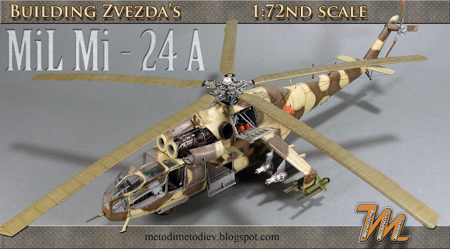 How to build Mi-24A , helicopter scale model