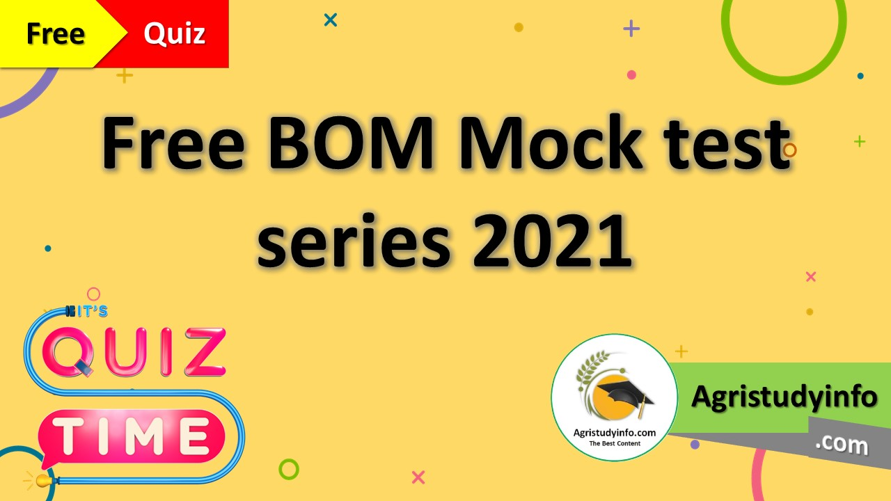 Read more about the article BOM Mock test series 2021 – Free Test