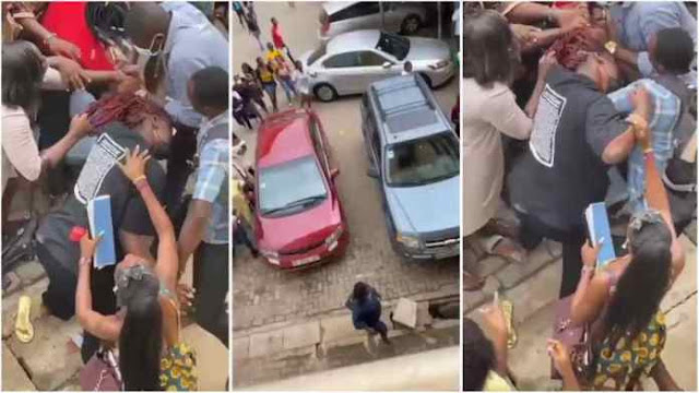 Two female students of Accra Technical University fight over a man (video)