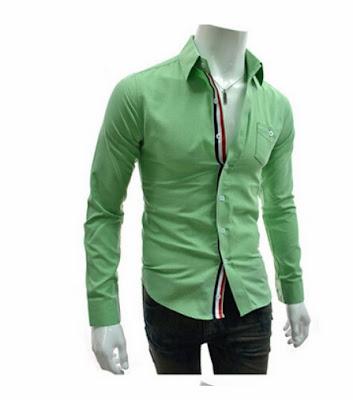 slim fit yeşil gömlek kombini erkek