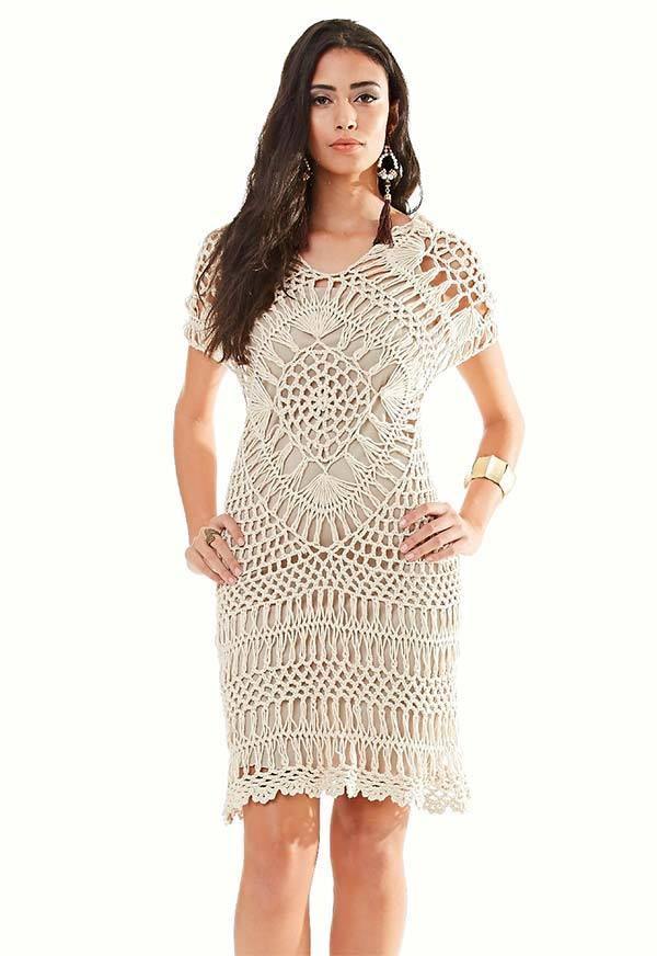 c139debd87ceb Katia ribeiro moda decoração handmade vestido em crochê de grampo com  gráfico e receit jpg 600x872