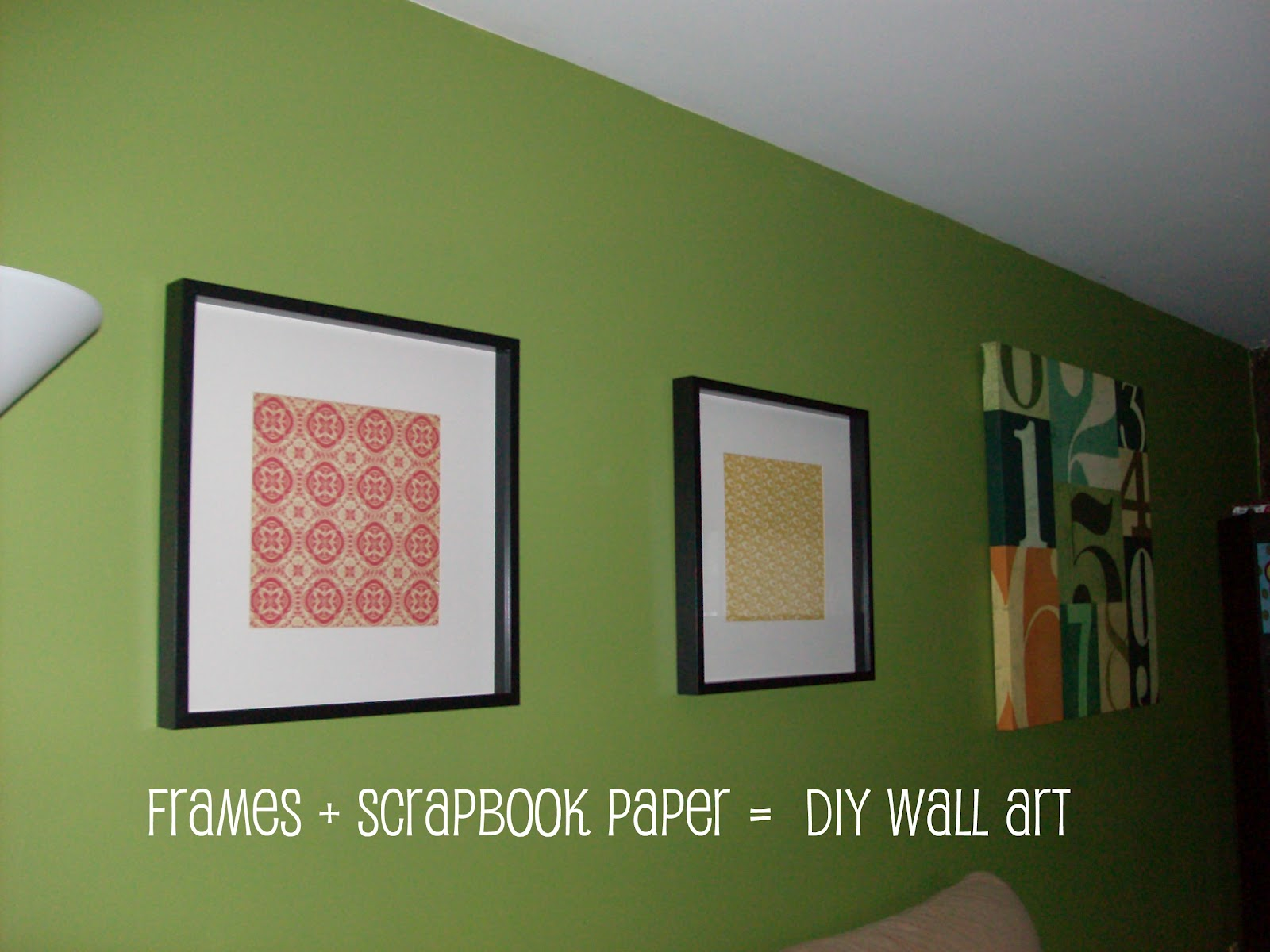 A Dozen Years Later: Frames + Scrapbook Paper = DIY Wall Art