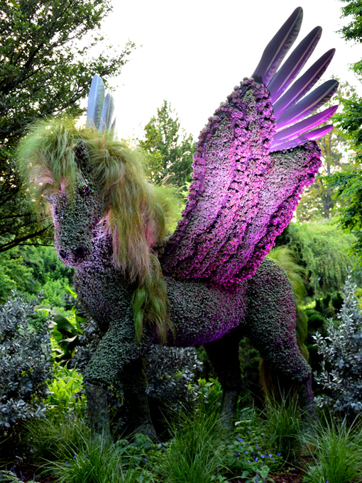 Pegasus | Imaginary Worlds | Atlanta Botanical Garden | Photo: Travis S. Taylor