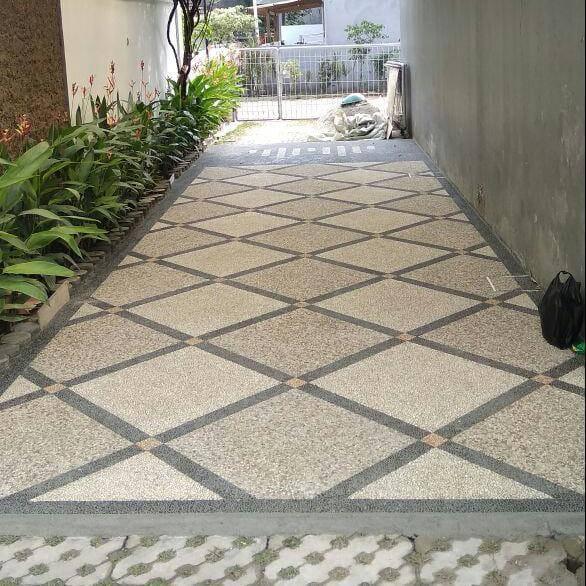 Harga Pasang Batu Sikat Lantai Carport Per Meter Jakarta Tukang Taman Jakarta Sentosa Garden