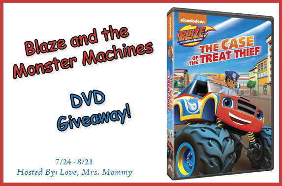 Blaze and the monster machines Giveaway, blaze and the case of the treat thief, Preschool TV shows