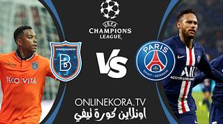 مشاهدة مباراة باريس سان جيرمان وإسطنبول باشاكشهير بث مباشر اليوم 08-12-2020 في دوري أبطال أوروبا