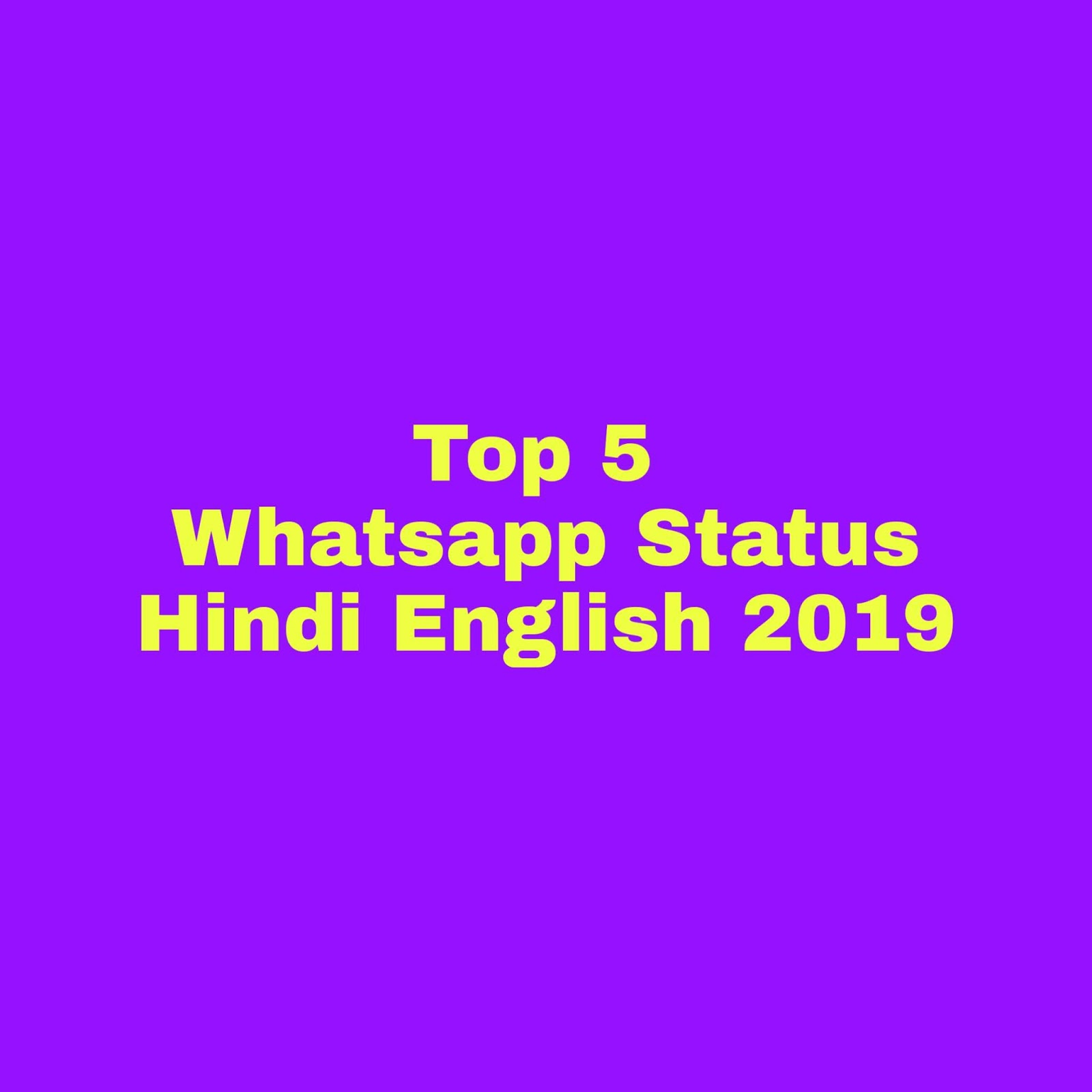 2019 Whatsapp Status Hindi And English Attitude Status In