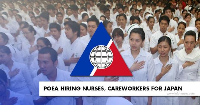 POEA hiring 32 nurses, 401 careworkers for Japan