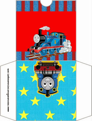 Thomas the Train Free Printable CD Case.