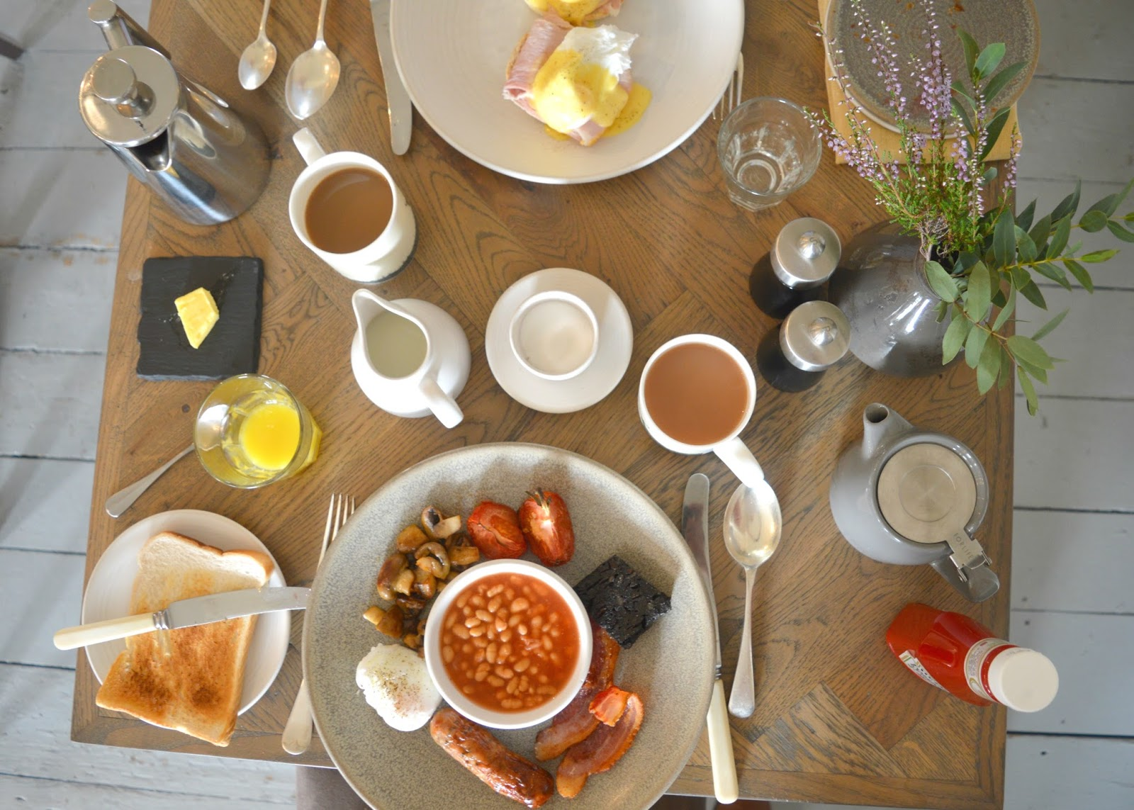 Lord Crewe Arms, Blanchland - Breakfast Menu